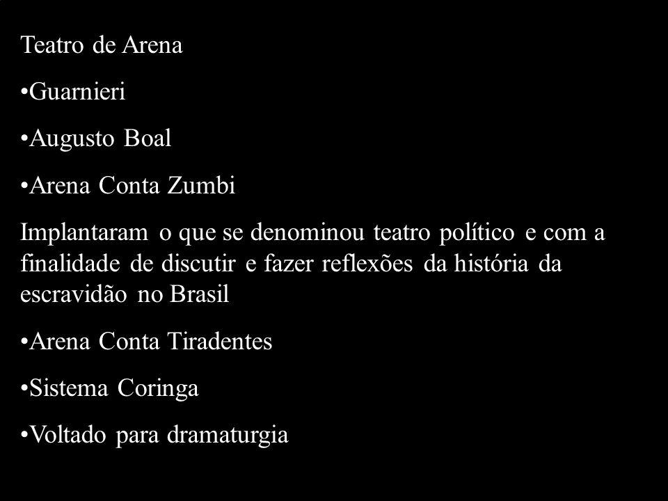 Teatro de Arena Guarnieri. Augusto Boal. Arena Conta Zumbi.