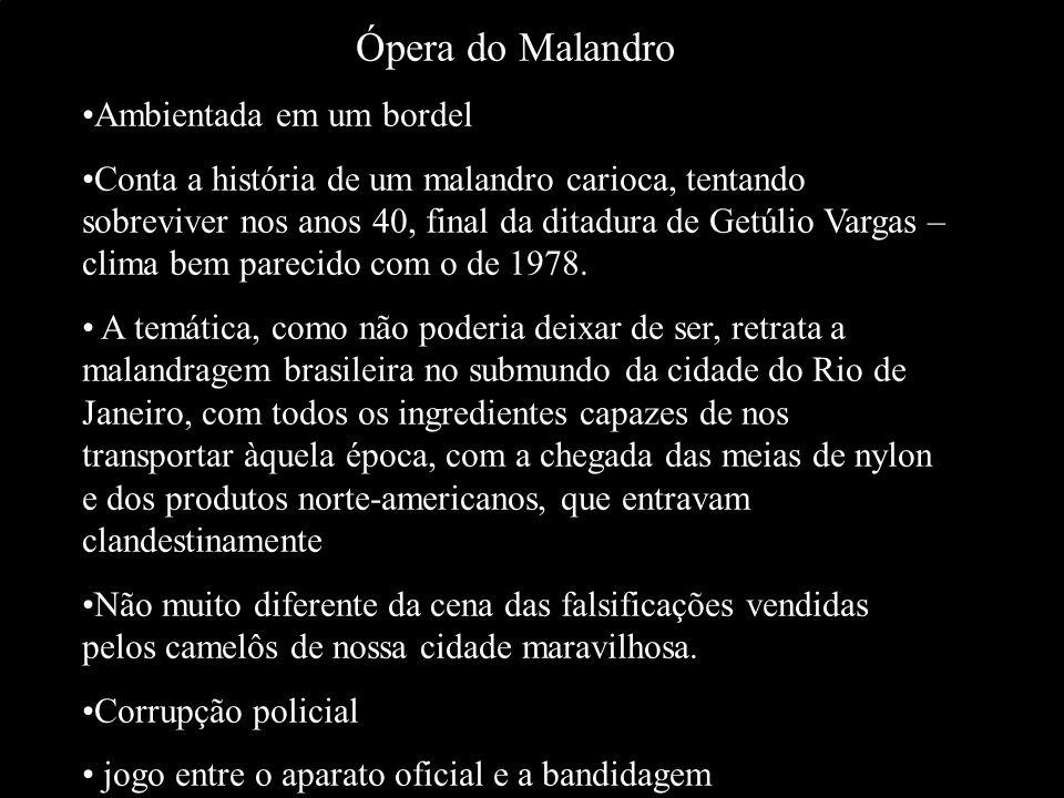 Ópera do Malandro Ambientada em um bordel