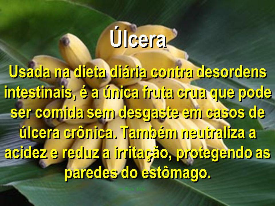 Úlcera Usada na dieta diária contra desordens intestinais, é a única fruta crua que pode ser comida sem desgaste em casos de úlcera crônica.