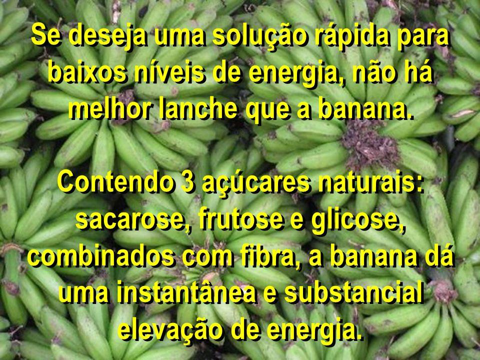 Se deseja uma solução rápida para baixos níveis de energia, não há melhor lanche que a banana.