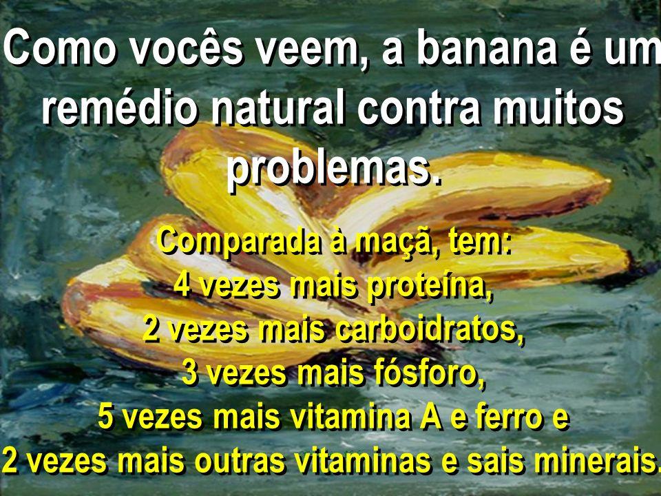Como vocês veem, a banana é um remédio natural contra muitos problemas