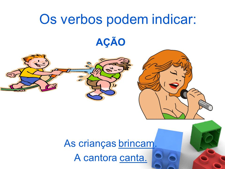 Os verbos podem indicar: