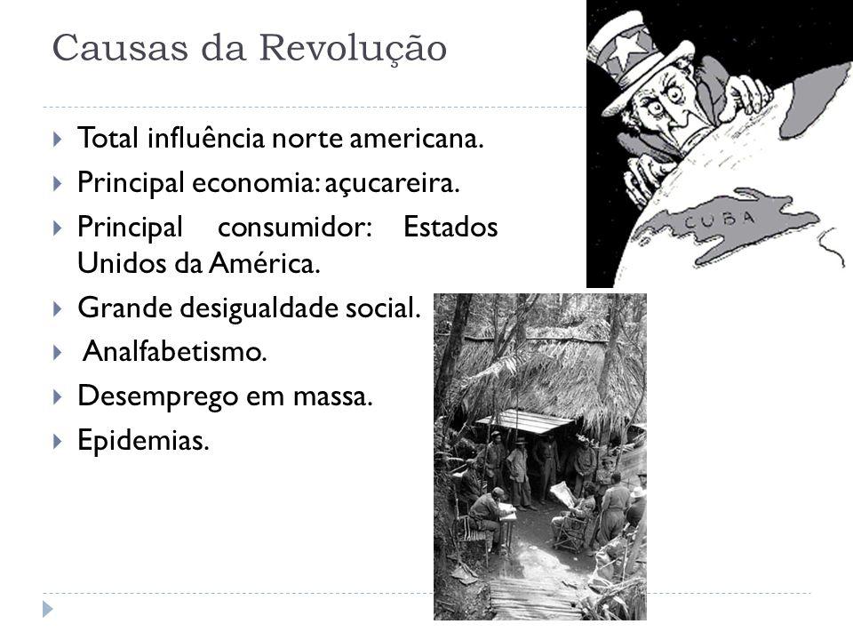 Causas da Revolução Total influência norte americana.
