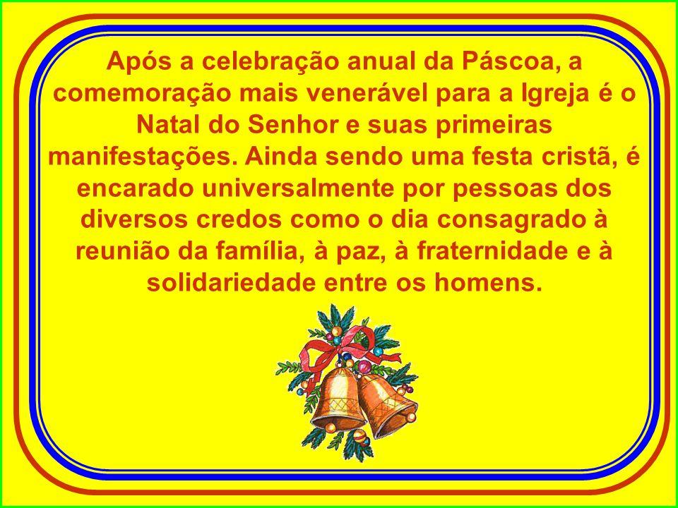 Após a celebração anual da Páscoa, a comemoração mais venerável para a Igreja é o Natal do Senhor e suas primeiras manifestações.
