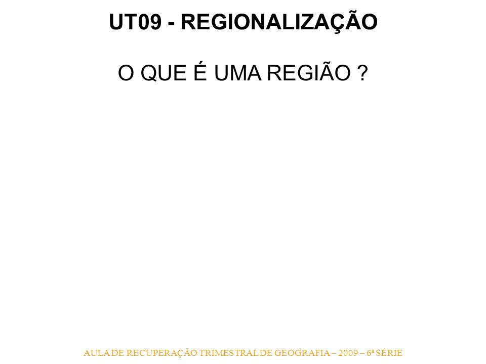AULA DE RECUPERAÇÃO TRIMESTRAL DE GEOGRAFIA – 2009 – 6ª SÉRIE