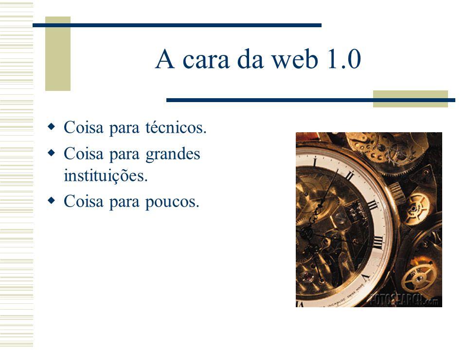 A cara da web 1.0 Coisa para técnicos.
