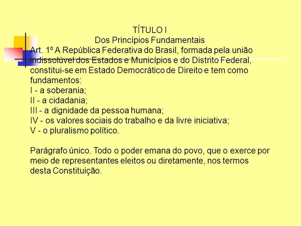 TÍTULO I Dos Princípios Fundamentais