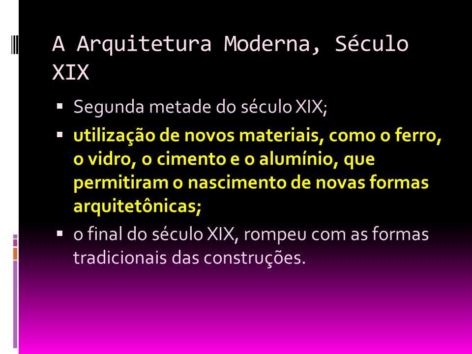 A Arquitetura Moderna, Século XIX