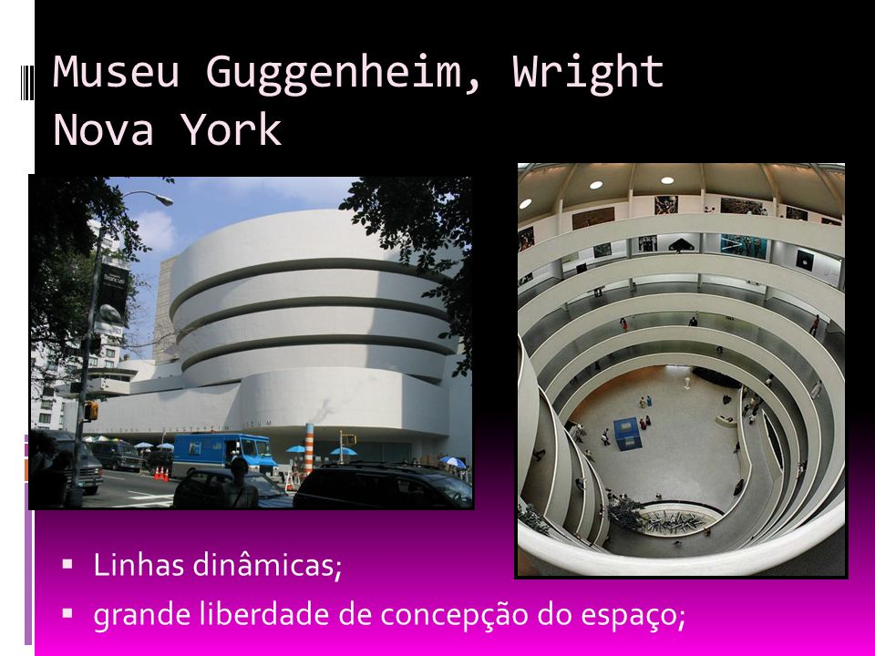 Museu Guggenheim, Wright Nova York