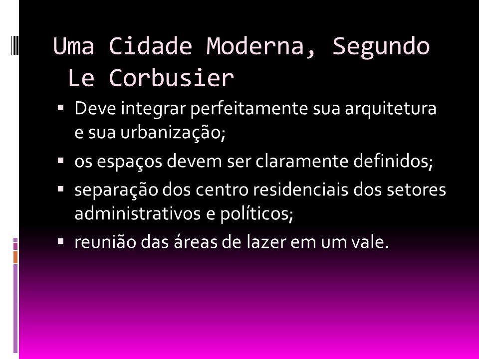 Uma Cidade Moderna, Segundo Le Corbusier