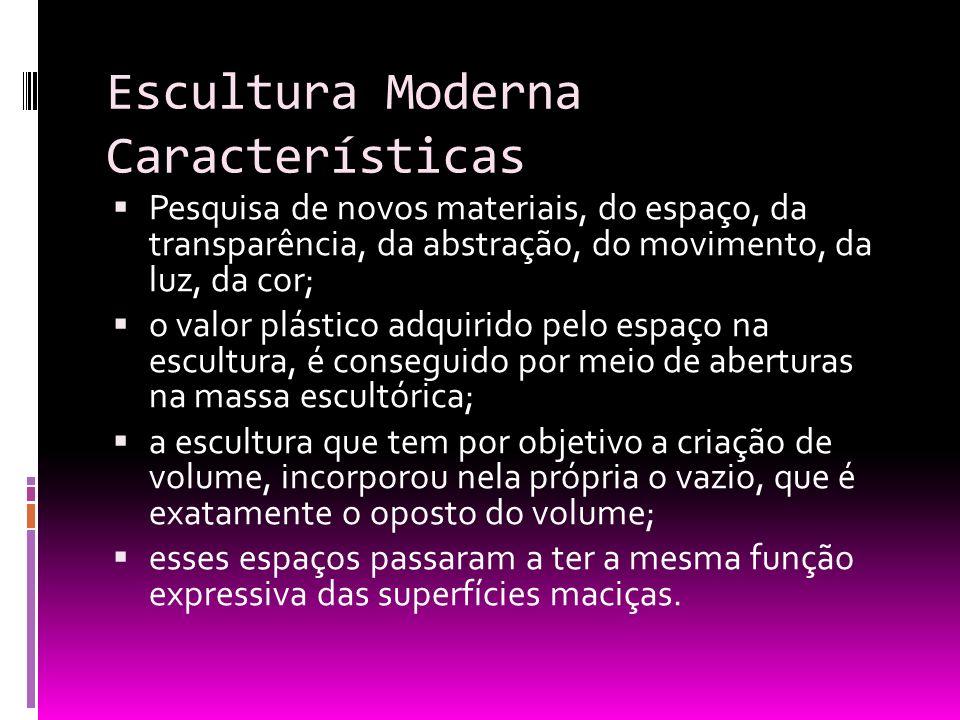 Escultura Moderna Características