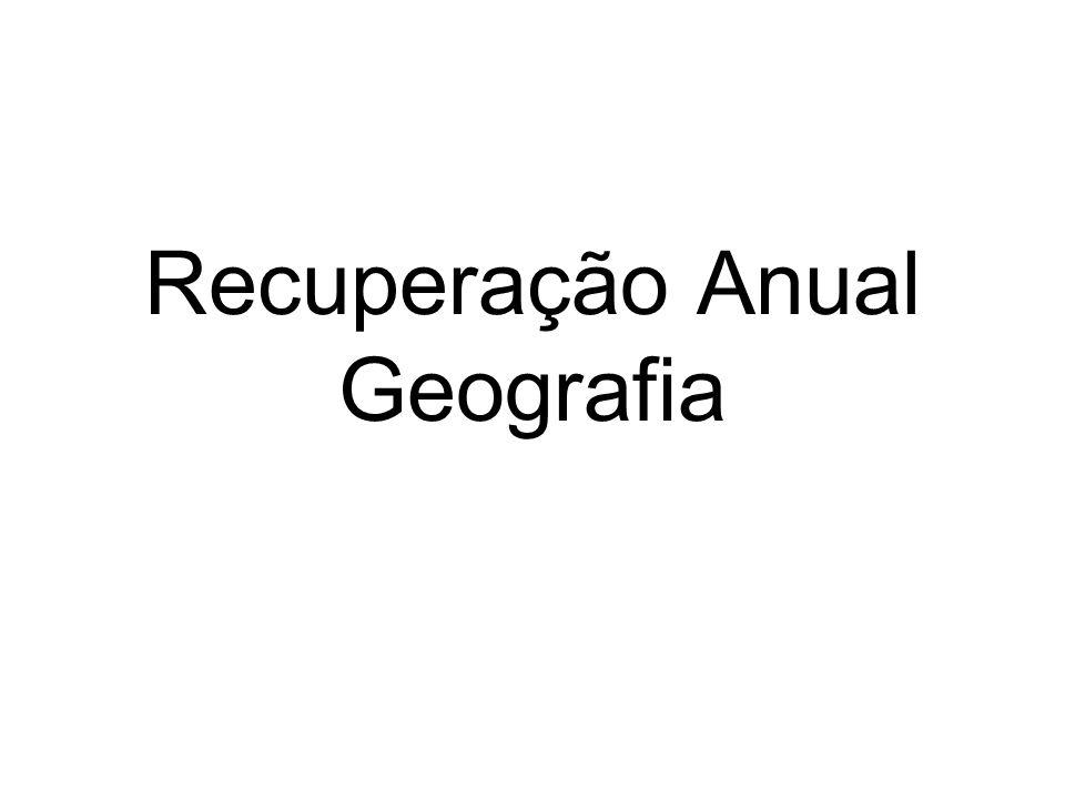 Recuperação Anual Geografia