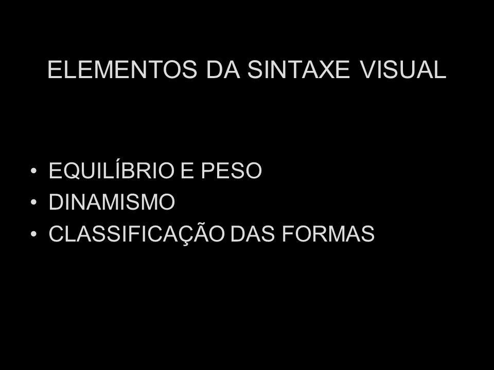 ELEMENTOS DA SINTAXE VISUAL