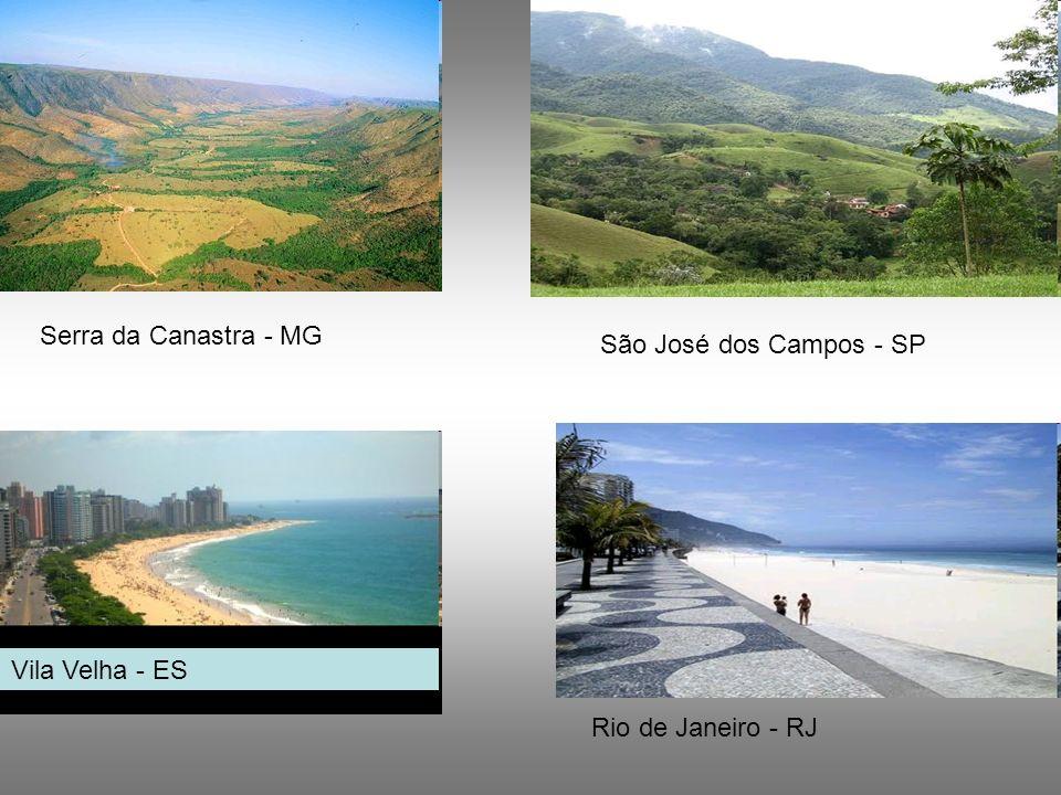 Serra da Canastra - MG São José dos Campos - SP Vila Velha - ES Rio de Janeiro - RJ