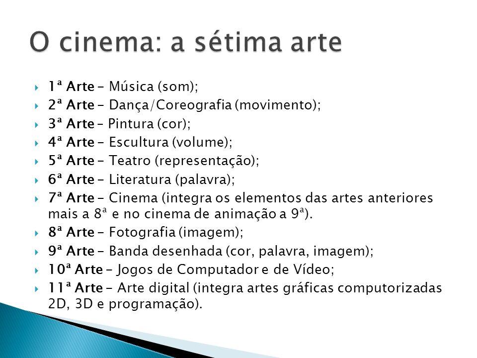 O cinema: a sétima arte 1ª Arte - Música (som);