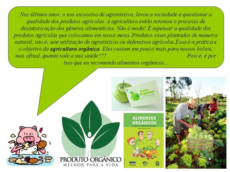 Nos últimos anos, o uso excessivo de agrotóxicos, levou a sociedade a questionar a qualidade dos produtos agrícolas.
