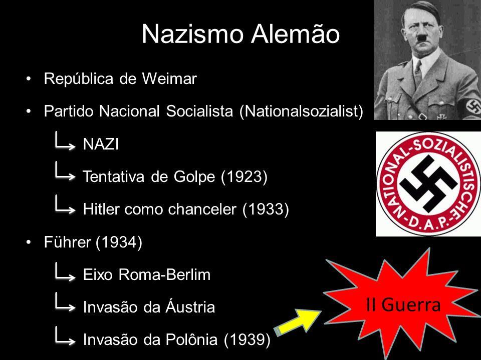 Nazismo Alemão II Guerra República de Weimar