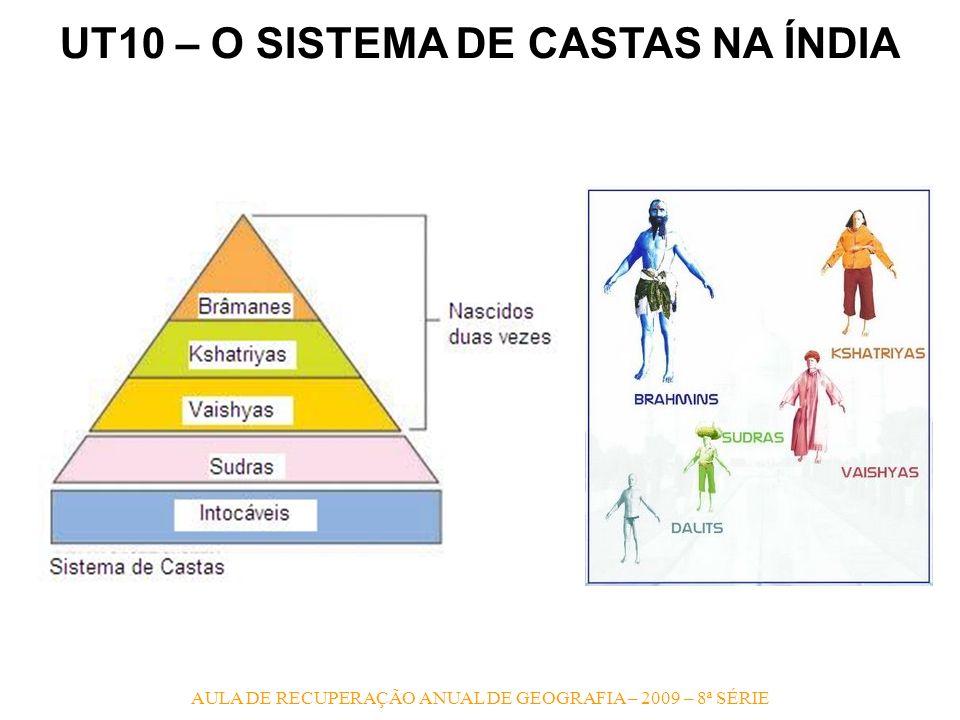UT10 – O SISTEMA DE CASTAS NA ÍNDIA