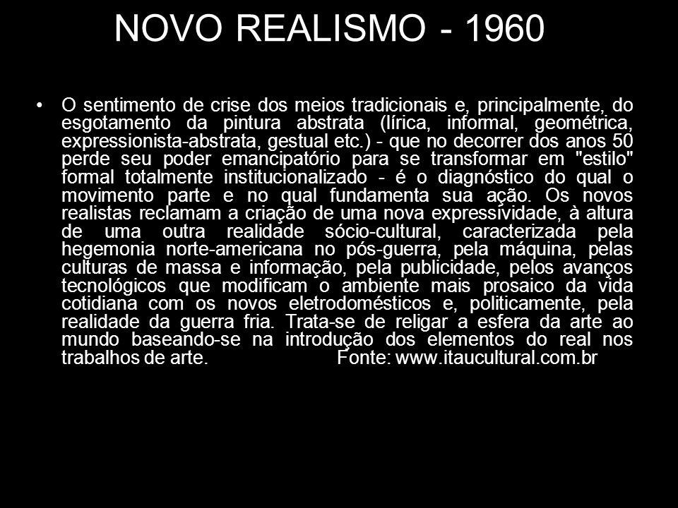 NOVO REALISMO - 1960