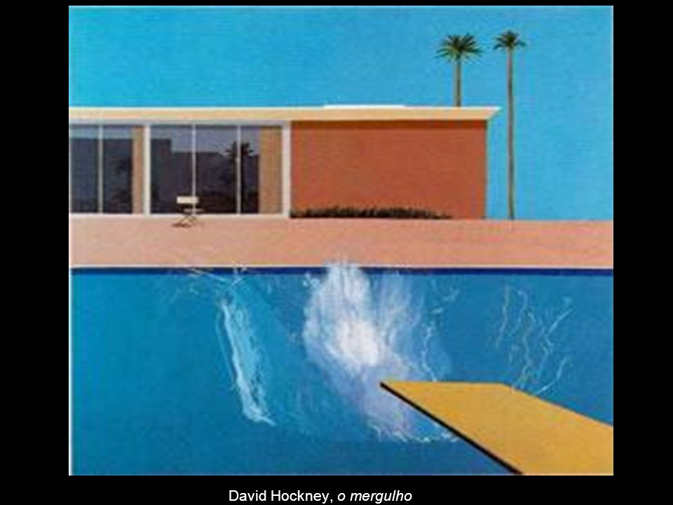 David Hockney, o mergulho