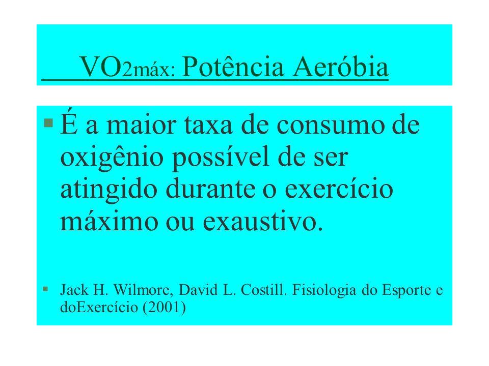 VO2máx: Potência Aeróbia