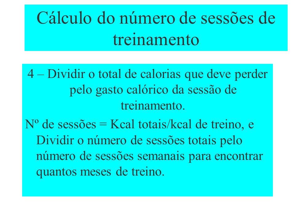 Cálculo do número de sessões de treinamento