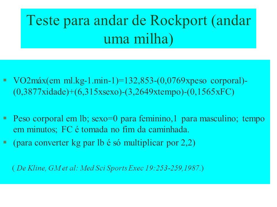Teste para andar de Rockport (andar uma milha)
