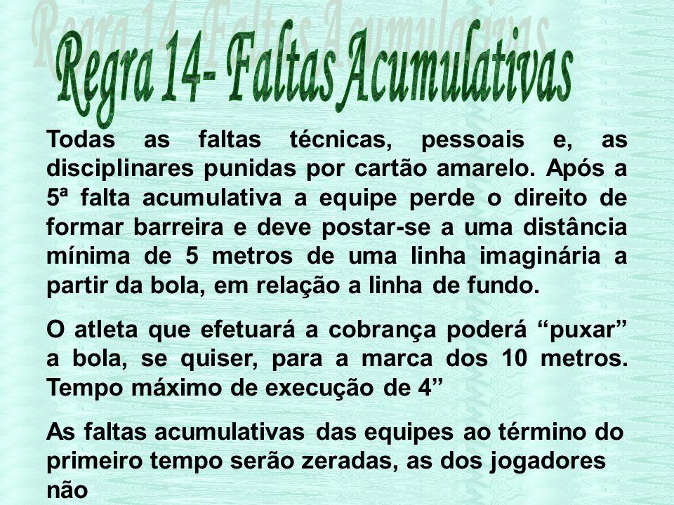 Regra 14- Faltas Acumulativas