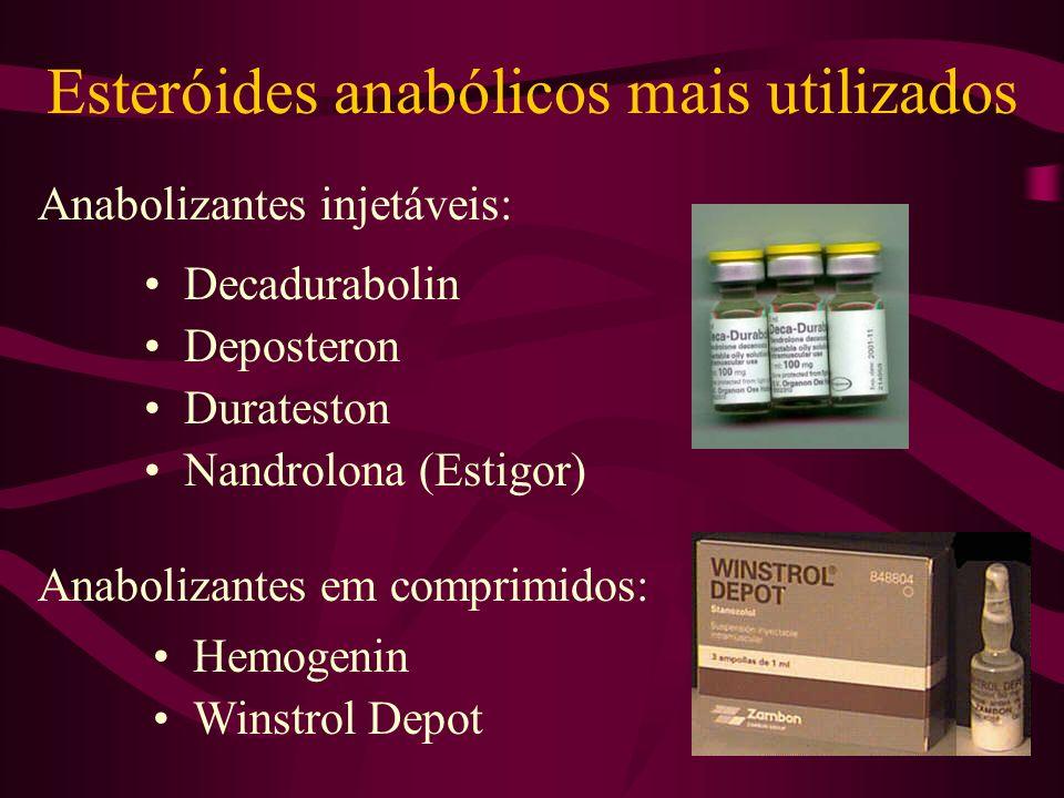 Esteróides anabólicos mais utilizados