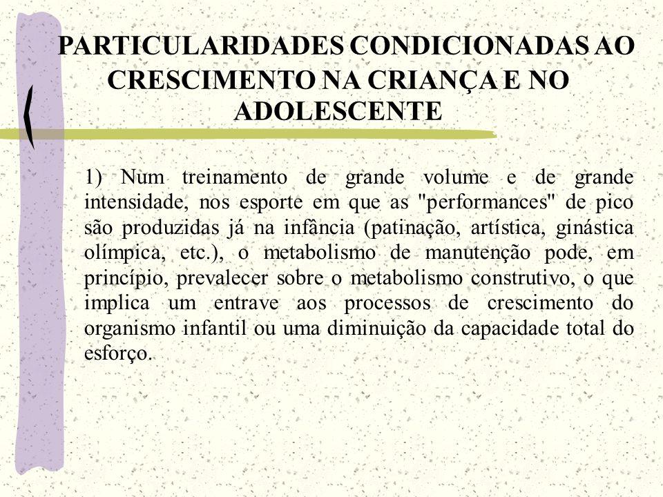 PARTICULARIDADES CONDICIONADAS AO CRESCIMENTO NA CRIANÇA E NO