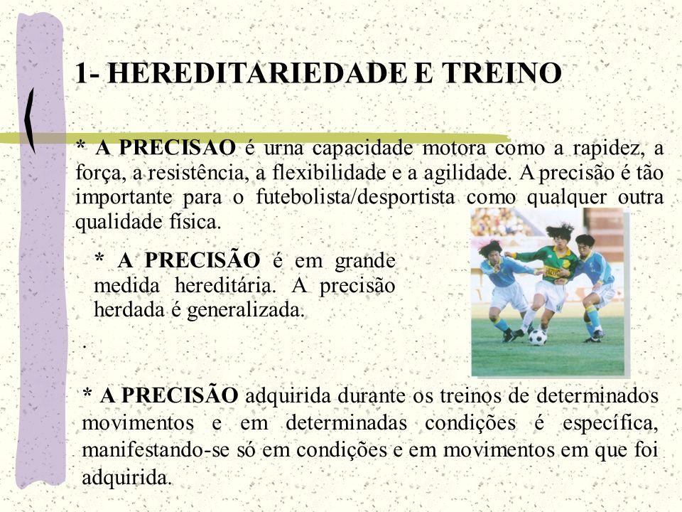 1- HEREDITARIEDADE E TREINO