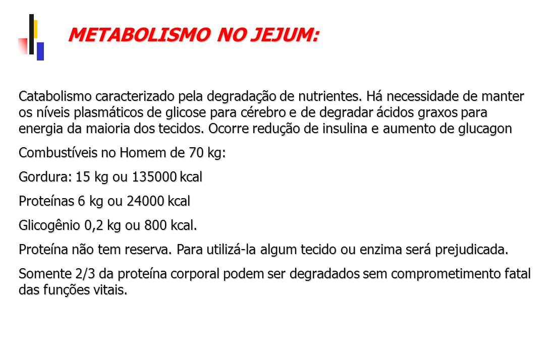 METABOLISMO NO JEJUM: