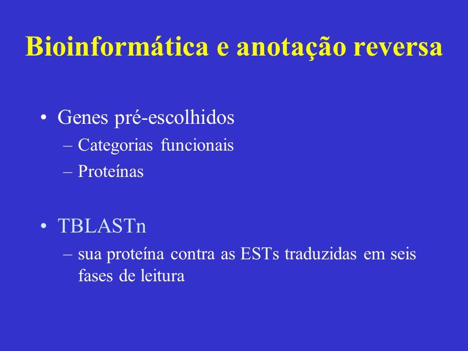 Bioinformática e anotação reversa