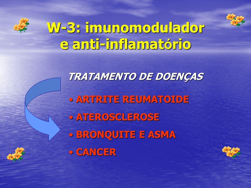 W-3: imunomodulador e anti-inflamatório