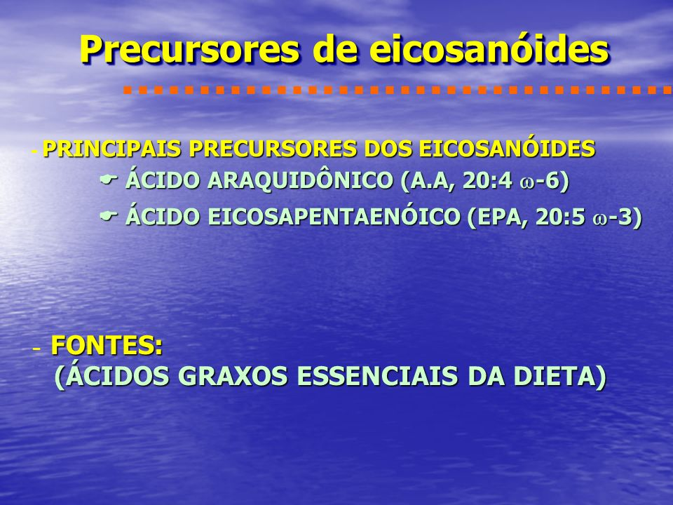 Precursores de eicosanóides
