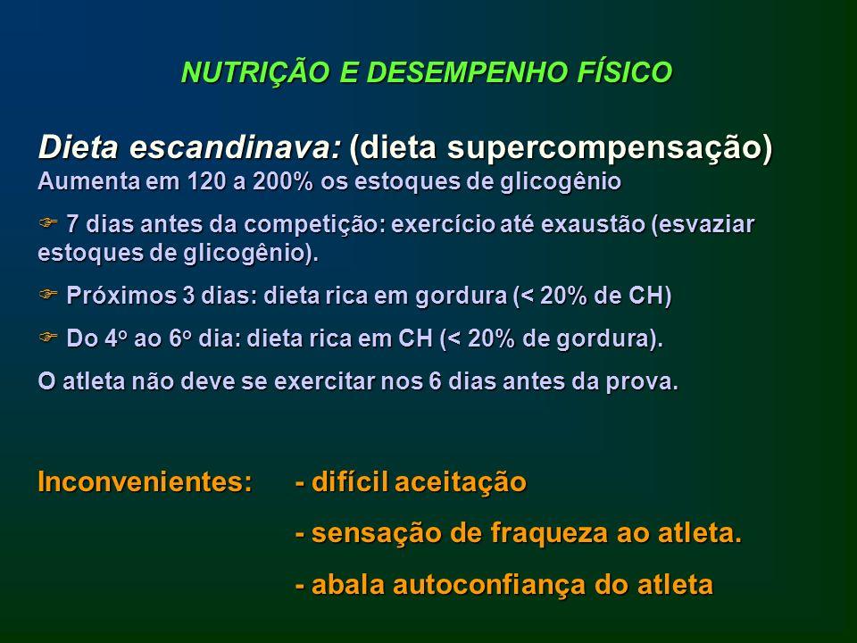 NUTRIÇÃO E DESEMPENHO FÍSICO