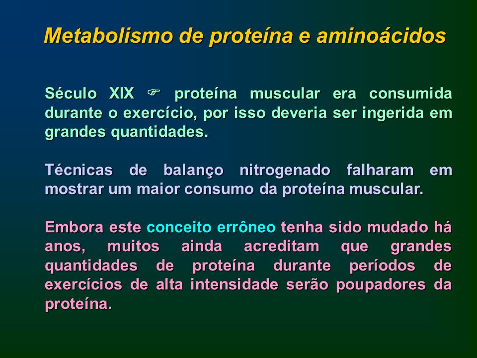 Metabolismo de proteína e aminoácidos