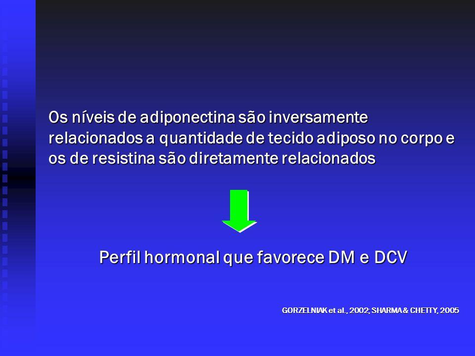 Perfil hormonal que favorece DM e DCV