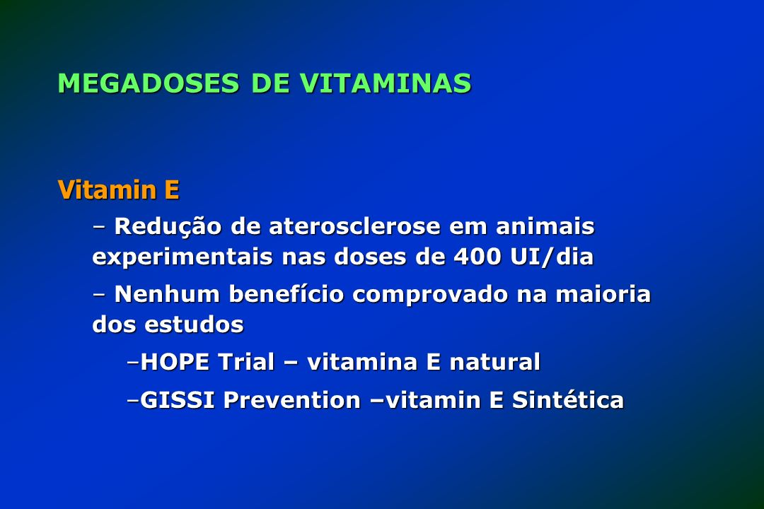 MEGADOSES DE VITAMINAS