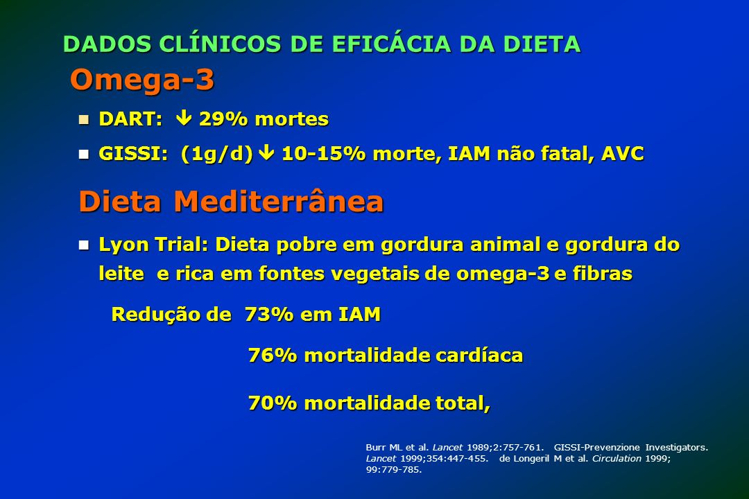 DADOS CLÍNICOS DE EFICÁCIA DA DIETA