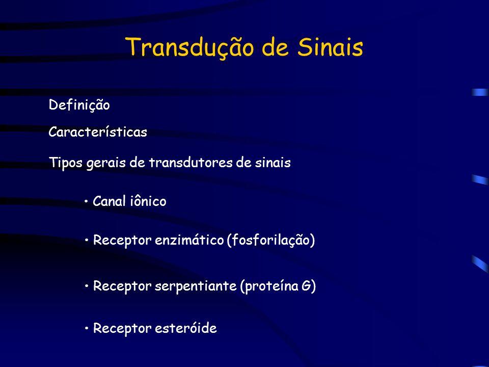 Transdução de Sinais Definição Características