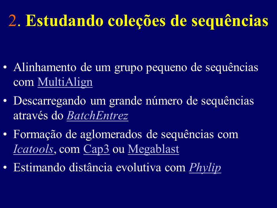2. Estudando coleções de sequências