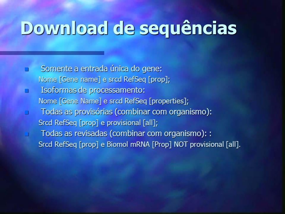 Download de sequências