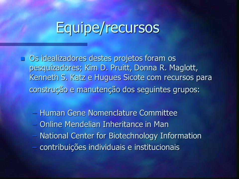 Equipe/recursos