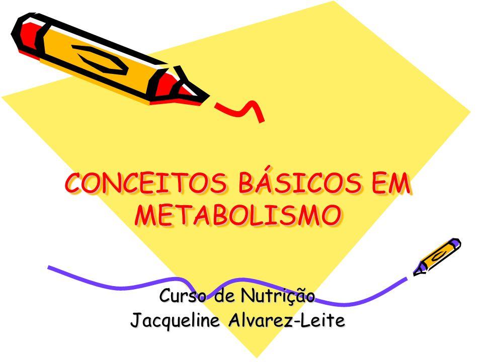 CONCEITOS BÁSICOS EM METABOLISMO