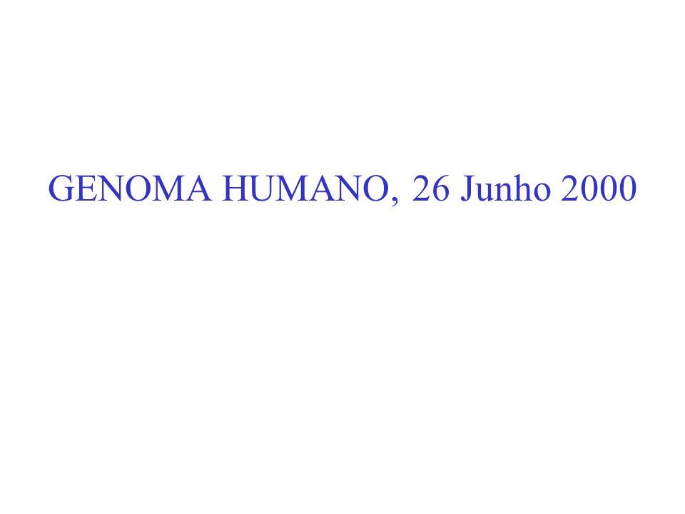 GENOMA HUMANO, 26 Junho 2000