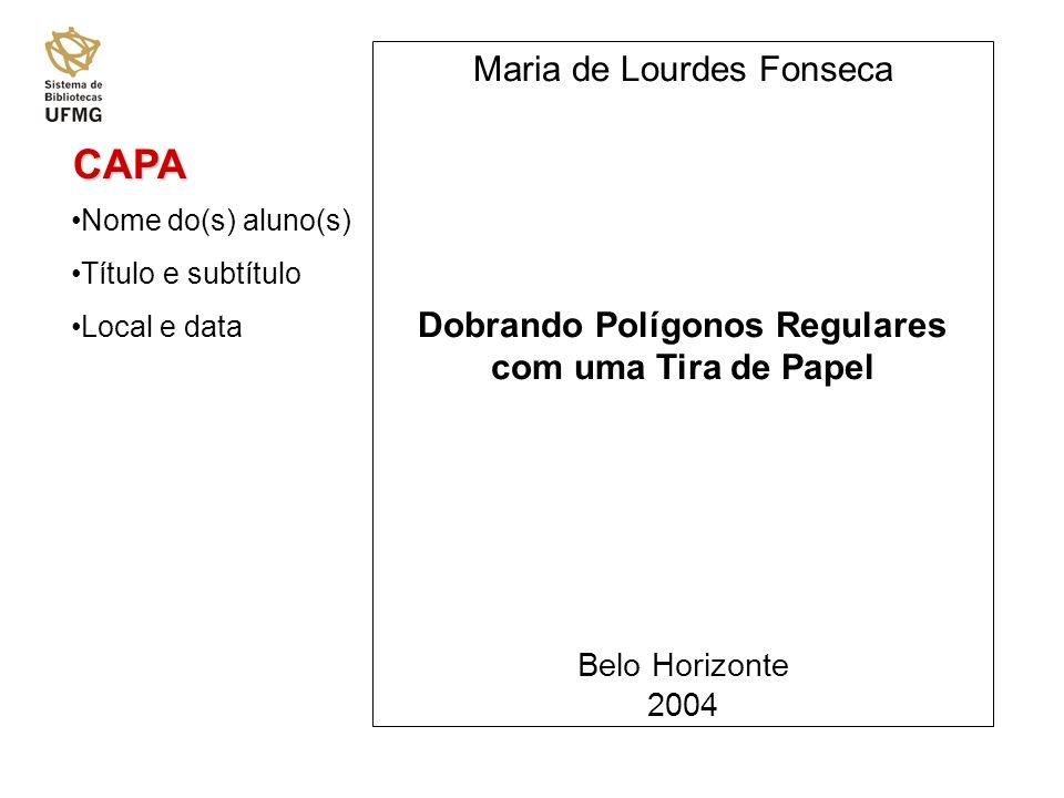 CAPA Maria de Lourdes Fonseca