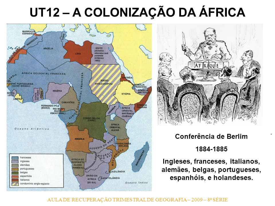 UT12 – A COLONIZAÇÃO DA ÁFRICA