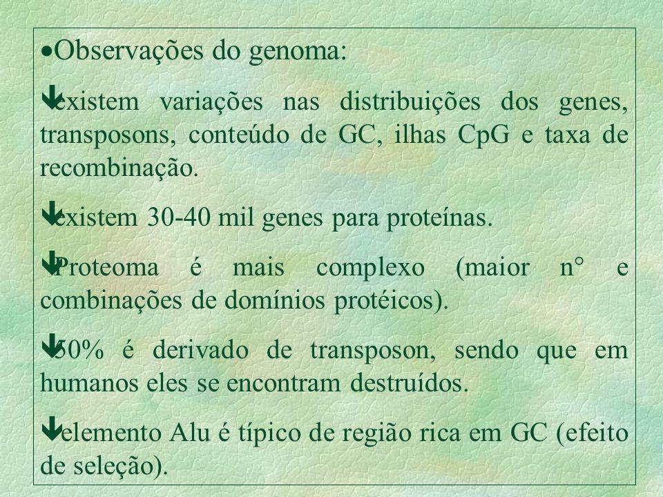 Observações do genoma: