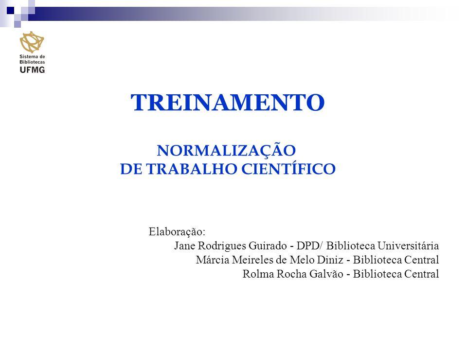 DE TRABALHO CIENTÍFICO